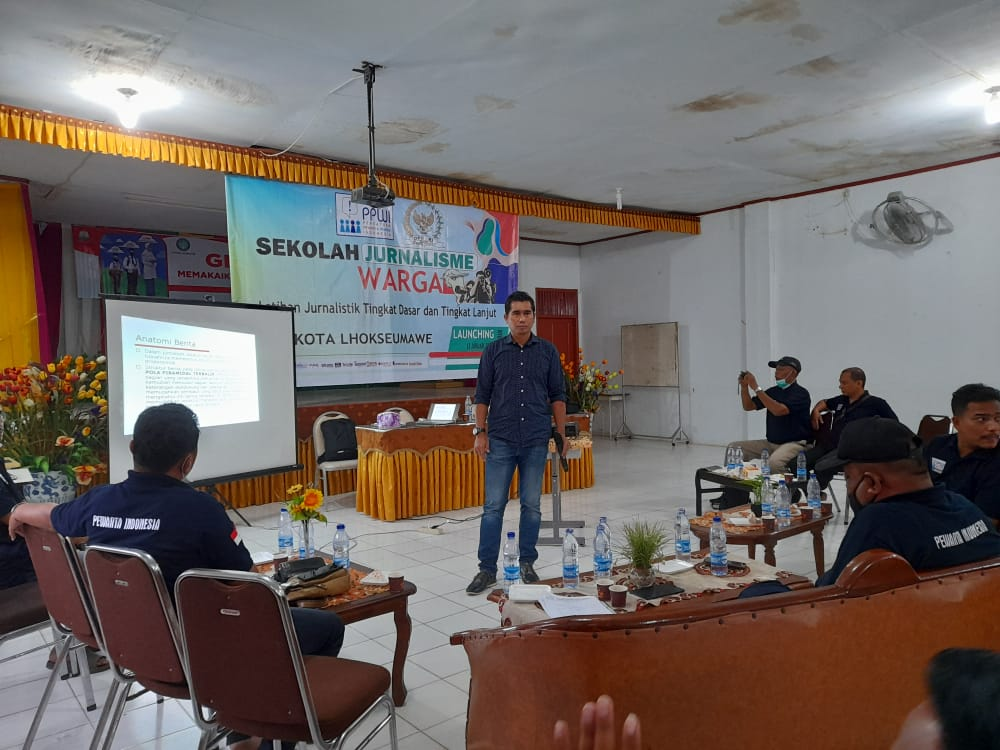 Senator Aceh Launching Program Sekolah Jurnalisme Warga PPWI Lhokseumawe