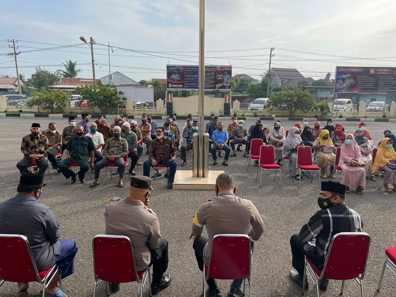 Silaturrahmi dengan Para Purnawirawan, Kapolres Lhokseumawe : Kita Adalah Keluarga Besar Polri