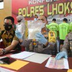 Polres Lhokseumawe Gelar Konferensi Pers Pengungkapan Sejumlah Kasus Tindak Kriminal dan Narkotika