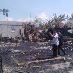 """ Irfansyah Anggota DPRA Kunjungi Rumah Warga Sungai Pauh Pusaka Yang Dibakar Oknum Tak Waras """