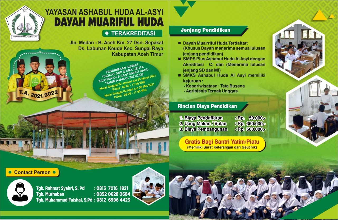 """KualitasTerakreditasi) """" Dayah Muariful Huda Tersedia Fasilitas Pendidikan SMP dan SMK """""""