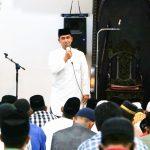 Berikan Tausiah, Ini Yang Disampaikan Dandim Aceh Timur Jelang Sholat Tarawih