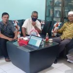 Pimpinan Media AsiaNationNews.Com (CEO) Sayed Oestman Al Syeich dan Kabiro Sinar Aceh Baru Wiwin Hendra melakukan anjang sana ke SMA Negeri 1 Langsa.